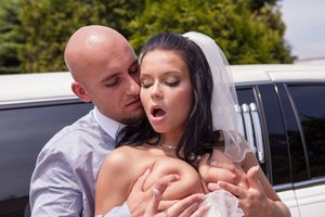 Cheating bride gets ravaged