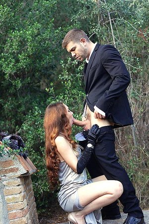 Lustful Payback: Voluptuous Rod Blowing in The Outdoors