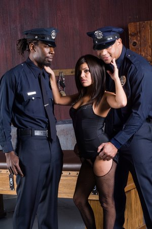 Ebony Pecker Cops